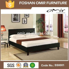 leather upholstered bed