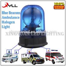 Halógeno giratoria de advertencia de baliza de luz para ambulancia, strobe azul luces de faro