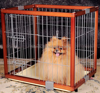 Indoor Wooden Wood Dog Pet Cage Kennel Metal Fence Foldable Puppy Crate Carrier