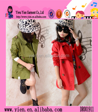Fashion Korean Style Hot Princess Coat Wholesale Spring Autumn New Design Children Big Coat