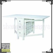 White wood dining room furniture with six drawers dining table