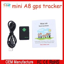 GH Tracker Mini A8 Global Real Time Quard band Global Real Time Locator GSM/GPRS Tracking With SOS Button for personal car pets