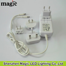 ALL Plug Include interchangeable LED Adapter 24W 12V 2A LED Adapter