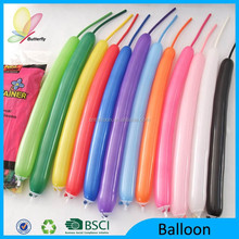 2015 Hot Sale Promotional Colorful Latex Modelling Balloons Latex Balloon Modelling Balloon