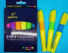 marcador seco Jalea resaltador marcador sólido caliente venta de marcador resaltador