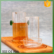 High quality wholesales glass jar with handle honey jar with lid-green color