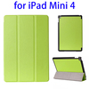 Factory directly 3-folding Horizontal leather smart cover for ipad mini 4