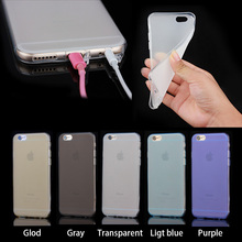 Plain style Cell phone TPU case for iphone 6+