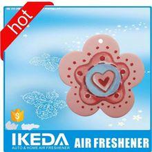 Free sample advertising hanging paper car air fresheners