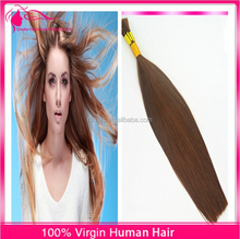 Factory promote brown silky straight raw unprocessed Chinese human hair bulk