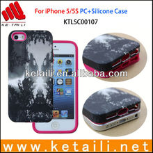 PC+Silicone Water Imprint Phone Case Manufacturer