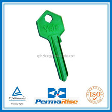 hot sale various colors aluminum house key blank