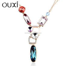 11043-1 OUXI factory direct price women's fashion long chain necklaces