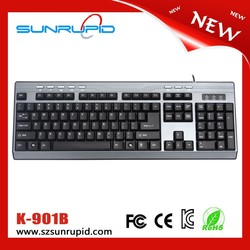 Business keyboard USB Wired Multimedia keyboard 104-Key with 8 Hot Keys keyboard