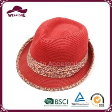 China supplier red baby summer hat, sun hat with factory price
