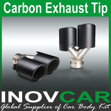 Hot sell carbon fiber dual exhaust end pipe, Exhaust muffler tip, Carbon Fiber Exhaust Tip