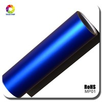 TSAUTOP top quality ROHS Certificate 1.52*20m channel Dark blue matte chrome stickers foil wrapping