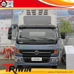 china supplier 115hp discount price Dongfeng brand 1 ton 1.5 ton 2 ton 4x2 cooling van truck