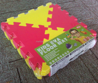 new popular eco-friendly triangle colorful eva non toxic puzzle mat