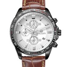 High quality best sell genuine leather watch with date