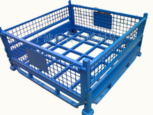 folding steel storage cage of wire welded mesh wire boxes