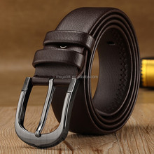 Pin buckle genuine leather belt men belt