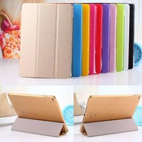 Slim Magnetic PU Leather Stand Smart Cover Back Case For Apple iPad air 2