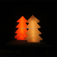 New plastic material led glowing christmas led tree light for decoration