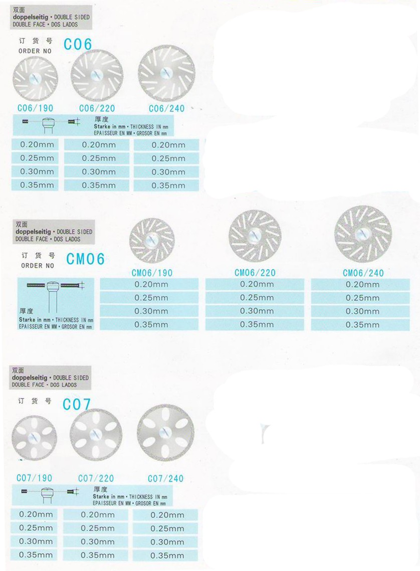 TR-C226-S Diameter 13-24mm Diamond Disc Disk Wheel for DENTAL Cutting,diamond cutting discs