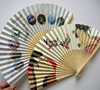 2015 japanese hand fan with bamboo handle