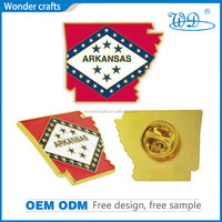 Eco-friendly unique new style pressure casting brass material pure gold plating metal custom badge pin emblem