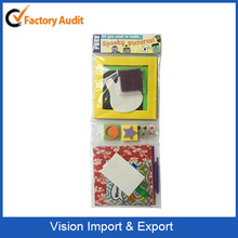ICTI audit CLASS A FACTRY DIY chirstmas set, snow man craft ,card photo frame craft for covermount
