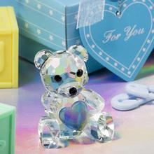 Cute Crystal Teddy Bear souvenir in Hot sale