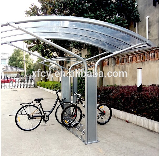 Bike Rack Shelter : Outdoor galvanized bicycle garage shelter canopy iso