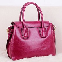 Oil Genuine leather ladies handbag fashion designer handbag factory price export from guangzhou EMG3938