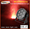 70W led thin par light/ 7pcs 10W RGBW 4in1 led flat par light