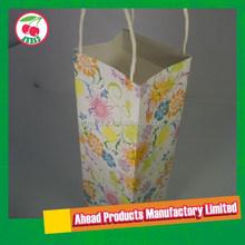 Customized Printed Kraft Paper Wine Gift Bag
