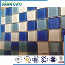 Special technology glass resin mixed mosaic indoor and outdoor tile