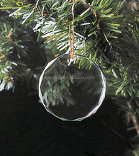 Delicate blank crystal ornament for christmas ornaments