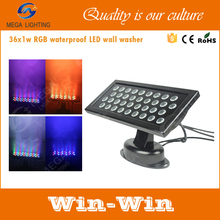 square ip65 waterproof tri color high power 36w rgb led wall washer lighting
