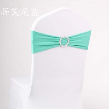 Simple Colorful Chiffon Chair Sash With Buckle for Weding Party (WS003)