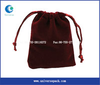 Custom Bag Packing Goods Design Velvet Bags And Pouches With Drawstring