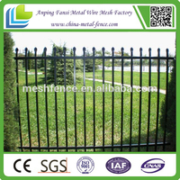 Dupont Architectural grade Powder coat Custom Designed Ornamental Wrought Iron Fencing