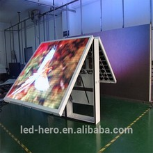 double sided outdoor scrolling led screen text video p10 / double sides led display screen for advertising