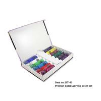 12 Color Acrylic Paint Tube Set for NAIL ART UV False TIPS Drawing Painting Tool NT-43