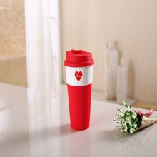 Hot selling good price creative design ceramic cartoon cup with silicon lid