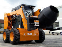55KW China Brand New Rexroth Hydraulic Pump Skid Steer Loader With Mixer