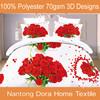 latest design luxury 3d bed sheet, comforter set 3d
