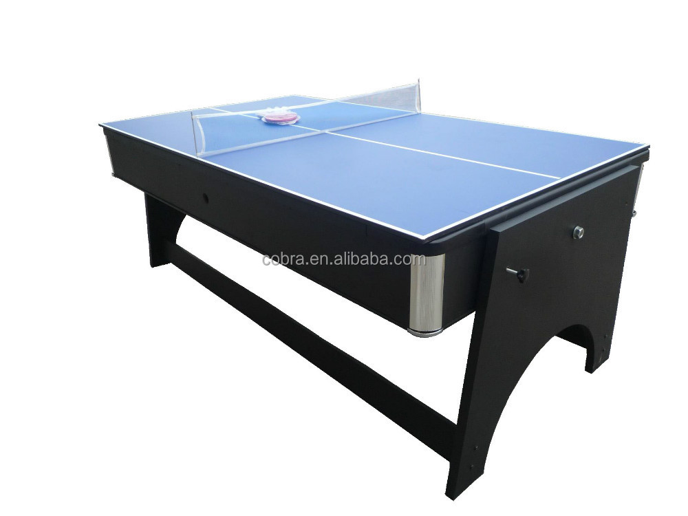 Pool Table Air Hockey Ping Pong Combo Pool Table,dinner table,ping pong table,hockey table,7ft foldable pool ...