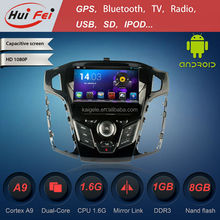 huifei dvd car audio navigation system for Ford Focus 2012 with OBDII,mirror link,DIY illumination